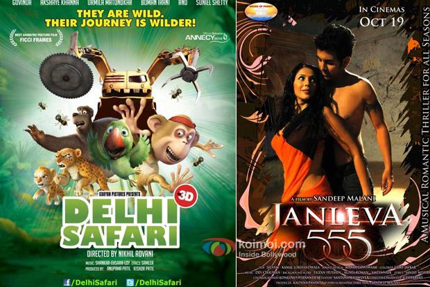 Delhi Safari and Janleva 555 Movie Posters