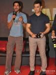 Farhan Akhtar And Aamir Khan At Talaash Movie Music Launch