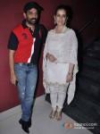 J. D. Chakravarthy And Manisha Koirala At Bhoot Returns Movie Premiere Pic 1