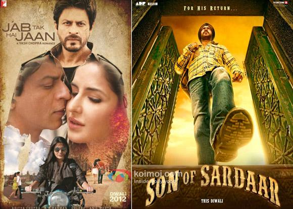 Jab Tak Hai Jaan and Son Of Sardaar Movie Posters