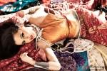 Kristina Akheeva in a seductive Indian pose