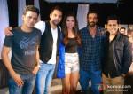Manoj Bajpai, Abhay Deol, Esha Gupta, Arjun Rampal At Mehboob Studio For Chakravyuh Music Interviews Pic 1