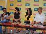 Manoj Bajpai, Anjali Patil And Prakash Jha Promoting Chakravyuh Movie At Indian Express Office Pic 1