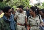 Manoj Bajpai, Arjun Rampal And Esha Gupta Promoting Chakravyuh Movie At Delhi Hindu College Pic 1