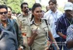 Manoj Bajpai, Arjun Rampal And Esha Gupta Promoting Chakravyuh Movie At Delhi Hindu College Pic 2