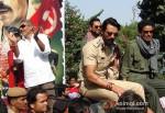 Prakash Jha, Abhay Deol, Manoj Bajpai And Arjun Rampal Promoting Chakravyuh Movie At Delhi Hindu College Pic 2