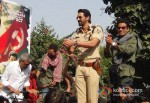 Prakash Jha, Abhay Deol, Manoj Bajpai And Arjun Rampal Promoting Chakravyuh Movie At Delhi Hindu College Pic 1