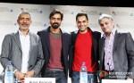 Prakash Jha, Arjun RampalAnd Abhay Deol Promoting Chakravyuh Movie At BFI London Film Festival 2012