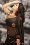 Ritu Arora Looks Super Hot in a Black Indian Saree