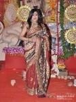 Rituparna Sengupta Visits DN Nagar Sarbojanik Durga Puja At Andheri Link Road Pic 4