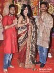 Romeer Sen, Rituparna Sengupta And Krishnendu Sen Visits DN Nagar Sarbojanik Durga Puja At Andheri-Link Road