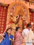 Saapna Mukherjee, Jaya Bachchan And Amitabh Bachchan Visits DN Nagar Sarbojanik Durga Puja At Andheri-Link Road