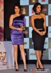 Sagarika Ghatge And Neha Dhupia At Rush Movie Music Launch