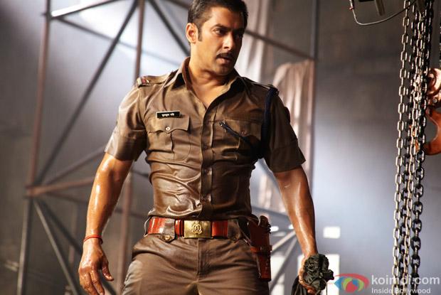Salman Khan as a Cop in a Still from Dabangg Movie