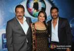 Sanjay Dutt, Sonakshi Sinha And Ajay Devgan Promoting Son Of Sardaar Movie On The Sets Of Bigg Boss Season 6 With Salman Khan