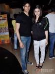 Sidharth Malhotra And Alia Bhatt Promoting Student Of The Year Movie At Cinemax