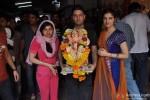 Tulsi Kumar, Bhushan Kumar And Divya Khosla Kumar At T Series Ganpati Visarjan Pic 1