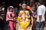 Tulsi Kumar, Bhushan Kumar And Divya Khosla Kumar At T Series Ganpati Visarjan Pic 2