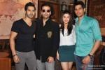 Varun Dhawan, Karan Johar, Alia Bhatt and Sidharth Malhotra Promoting Student Of The Year Movie At Starbucks Coffee Shop