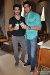 Varun Dhawan and Sidharth Malhotra Promoting Student Of The Year Movie At Starbucks Coffee Shop