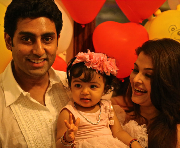 Abhishek and Aishwarya with Aaradhya Bachchan