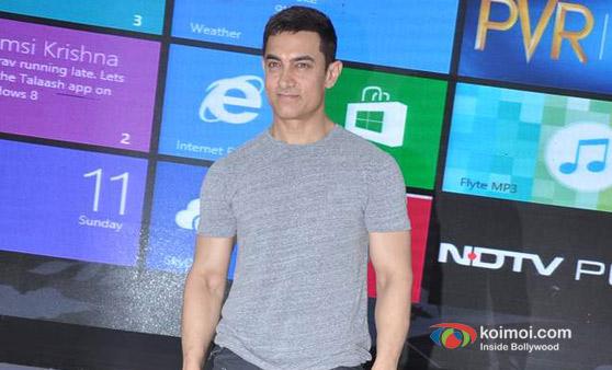 Aamir Khan at 'Talaash – Windows 8′ Press Meet
