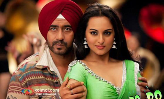 Ajay Devgan And Sonakshi Sinha In Son Of Sardaar Movie Stills