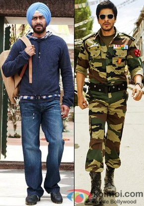 Ajay Devgn from Son Of Sardaar and Shah Rukh Khan from Jab Tak Hai Jaan