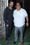 Anil Kapoor and Satish Kaushik at 'Barfi!' Screening