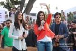 Anushka Sharma, Katrina Kaif And Shah Rukh Khan Promoting Jab Tak Hai Jaan Movie In Jalandhar