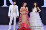 Bhoop Yaduvanshi, Zeenat Aman And Madhurima Tuli Walks for Riyaz Gangji at India Resort Fashion Week 2012 Pic 1