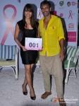 Bipasha Basu And Milind Soman At Pinkathon's Breast Cancer Awareness Campaign Pic 3