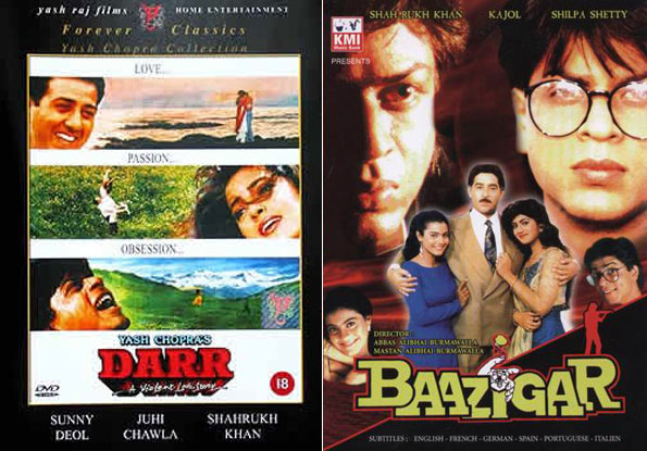 Darr and Baazigar Movie Posters