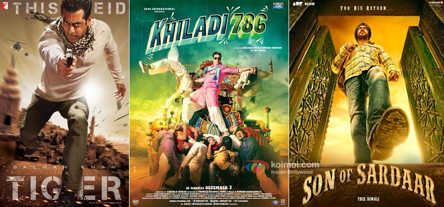 Ek Tha Tiger, Khiladi 786 and Son Of Sardaar Movie Posters