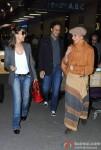 Gauri Khan, Arun Nayar and Parmeshwar Godrej spotted at the Airport