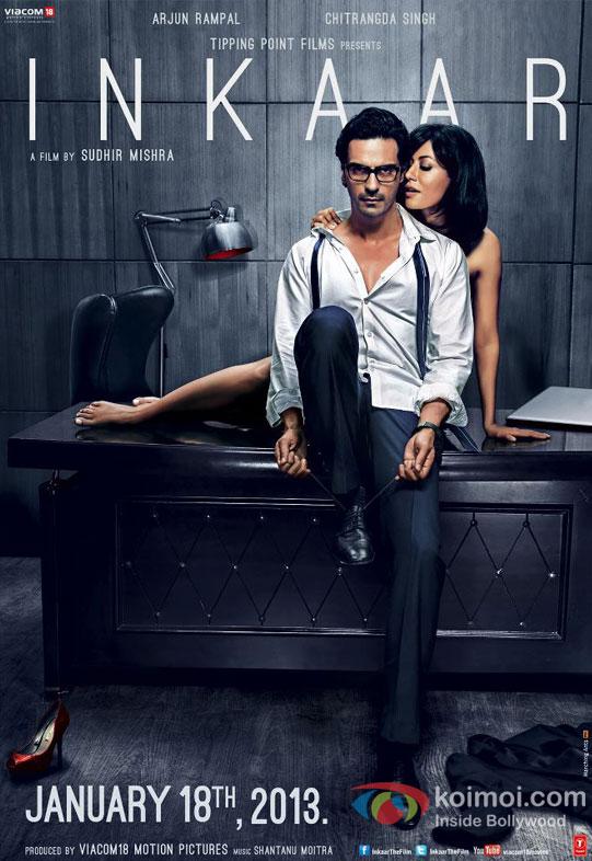 Arjun Rampal and Chitrangada Singh in Inkaar Movie First Look Poster