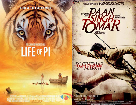 Life Of Pi and Paan Singh Tomar Movie Posters