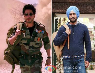 Shah Rukh Khan from Jab Tak Hai Jaan Movie Still & Ajay Devgn from Son Of Sardaar Movie Still