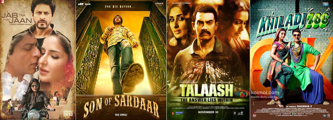 Jab Tak Hai Jaan, Son Of Sardaar, Talaash and Khiladi 786 Movie Posters