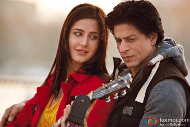 Katrina Kaif and Shah Rukh Khan in a still from Jab Tak Hai Jaan Movie