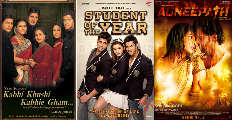 Kabhi Khushi Kabhie Gham..., Student Of The Year and Agneepath Movie Posters