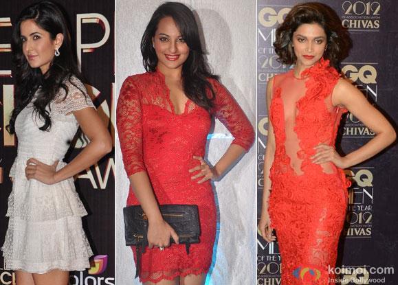 Katrina Kaif, Sonakshi Sinha, Deepika Padukone