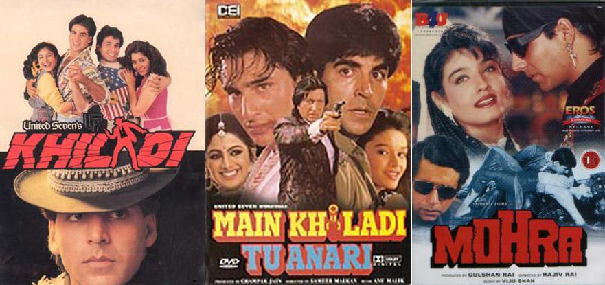 Khiladi, Main Khiladi Tu Anari and Mohra Movie Posters