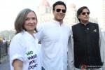 Kia Scherr, Vivek Oberoi and Shashi Tharoor at Global Peace Initiative Walkathon