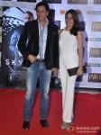 Madhur Bhandarkar And Renu Namboodiri At Skyfall Movie Premiere