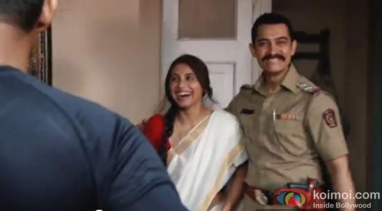 Aamir Khan and Rani Mukerji on the sets of Talaash