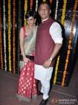 Mandira Bedi And Raj Kaushal At Ekta Kapoor's Diwali Bash