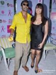 Milind Soman And Bipasha Basu At Pinkathon's Breast Cancer Awareness Campaign