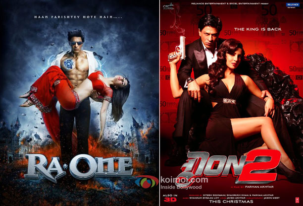 Ra.One and Don 2 Movie Posters