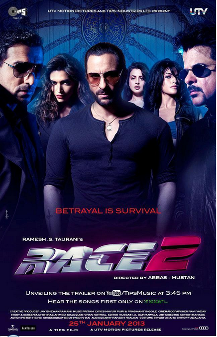 Race 2 Poster with entire cast